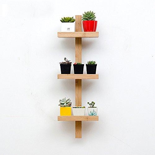 Shelves Duo Bücherregal Lagerregal Holz Wand Organiser Regale für Schlafzimmer, Wohnzimmer, Bad, Küche, Büro und Mehr 3-Tier, 4-Tier, 5-Tier Hängeregal, (Größe : 3 Layers) (3-tier-bücherregal-regal)