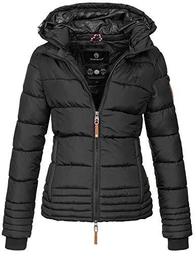 Marikoo Designer Damen Winter Jacke Steppjacke Winterjacke Stepp gesteppt B668 [B668-Sol-Schwarz-Gr.S]