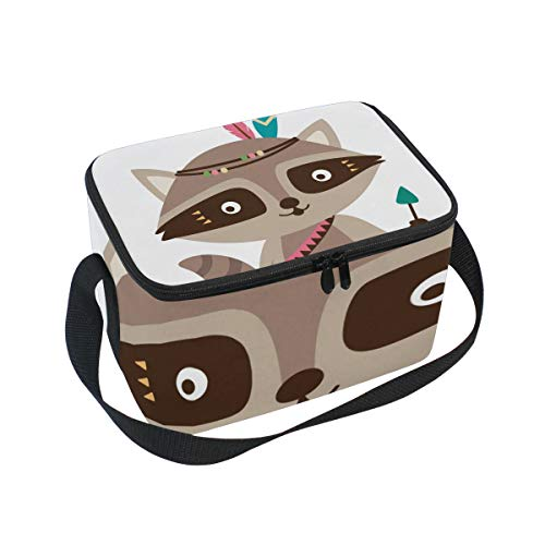 SKYDA Lunchpaket Box Insulated Lunchpaket Bag Large Cooler Indian Fox Tote Bag for Men, Women, Girls, Boys