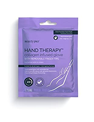 BeautyPro HAND THERAPY collagen infused gloves with removable finger tips