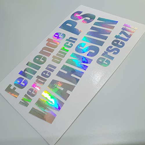 folien-zentrum Fehlende PS Metallic Effekt Hologramm Oilslick Rainbow Flip Flop Shocker Hand Auto Aufkleber JDM Tuning OEM Dub Decal Stickerbomb Bombing Sticker Illest Dapper Fun Oldschool
