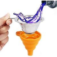 Aibecy Accessoire pour imprimante 3D Entonnoir rétractable en silicone Filtre en acier inoxydable pour verser la résine dans la bouteille Pour imprimante 3D Anycubic Photon Sparkmaker Kelant Orbeat