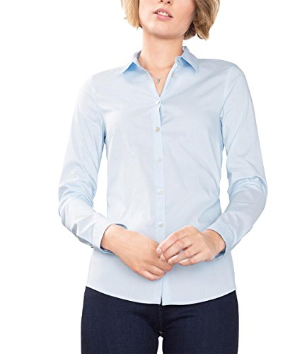 ESPRIT Damen Bluse 086EE1F031, Blau (Light Blue 440), 38