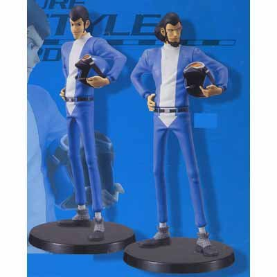 Preisvergleich Produktbild Lupin Knockdown DX Stylish Figure ~ RACER STYLE ~ all set of 2 (japan import)