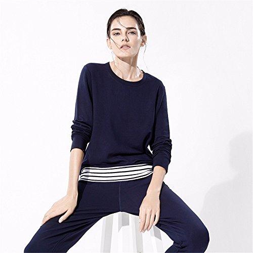 la primavera e l'inverno donne pigiama a maniche lunghe a casa vestiti serie moda stripes s.
