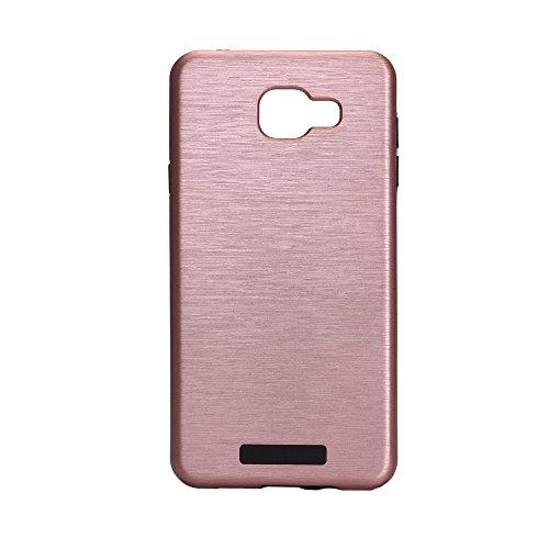 Meimeiwu Custodia TPU Design: 2 in 1 Case Cover Involucro Bumper Astuccio per Samsung Galaxy A510 A5 2016 - Nero Oro