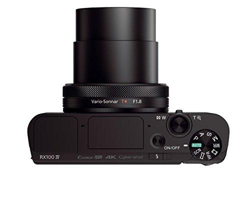 """Sony DSC-RX100M4 Fotocamera Digitale Compatta Cyber-shot, Sensore CMOS Exmor RS da 1"""" e 20,1 Megapixel, Obiettivo Zeiss Vario-Sonnar T* con Zoom Ottico 2,9x, Nero"""