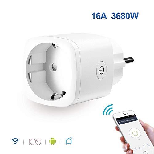 WLAN Steckdose Alexa, GoKlug Smart Steckdose Digital Zeitschaltuhr Stromzähler Wifi Steckdose Schaltbare Ihre Haushaltsgeräte von überall, kompatibel mit Alexa, Google Home, Smartphone gesteuert -