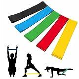 Fitnessbändern Widerstandsbänder 5 Set Trainingsbänder aus Natürlichem Latex Gymnastikbänder Loop Bänder für Beinen Training Yoga Fitness Therapie Muskelaufbau von Eastshining