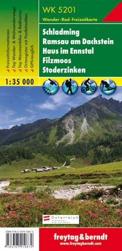 Schladming - Ramsau am Dachstein - Haus im Ennstal - Filzmoos - Stoderzinken, Wanderkarte 1:35.000, WK 5201: Wandel- en fietskaart 1:35 000 (freytag & berndt Wander-Rad-Freizeitkarten)