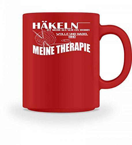 Hochwertige Tasse - Häkeln ist meine Therapie