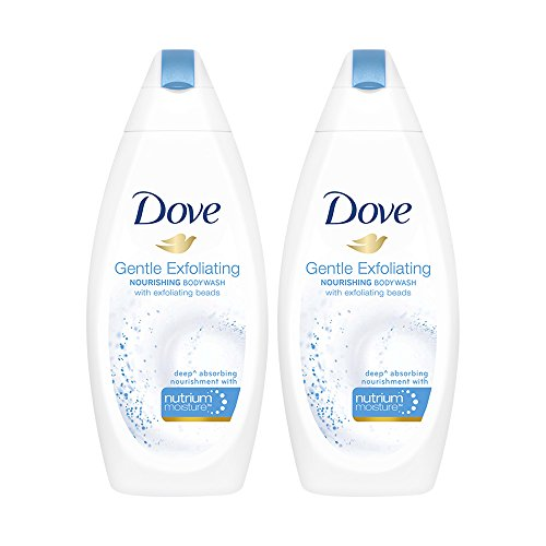 Dove Gentle Exfoliating Nourishing Body Wash, 190ml (Pack of 2)