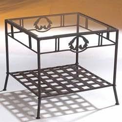 Bout de canapé en fer forgé - 50 x 50 cm