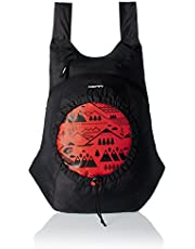 GEAR Black and Orange 49 cms Casual Backpack (BKPCARYON0106)
