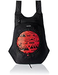 GEAR Black and Orange Casual Backpack (BKPCARYON0106)