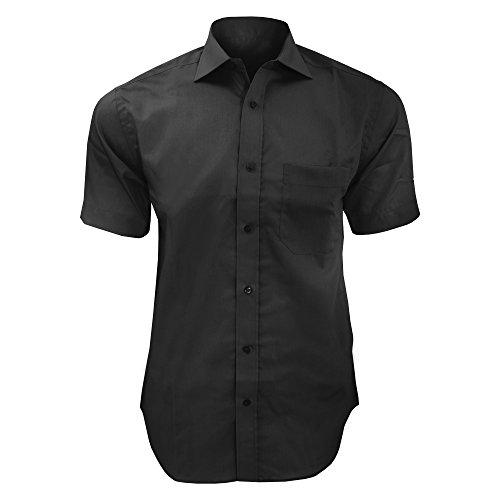 Kustom Kit Premium Herren Hemd, Kurzarm, bügelfrei Hellblau