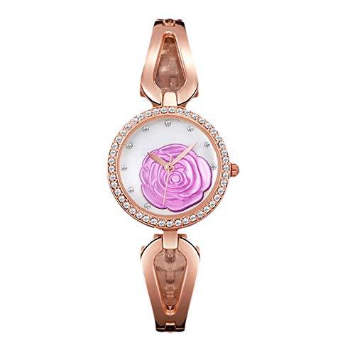 CFGem Dame Uhr Zeiger Quarz Wasserdicht mit Legierung Armband PRM- 5062 Rose Gold
