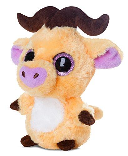 yoohoo-friends-pluschtier-buffel-kuscheltier-mit-glitzeraugen-ca-20-cm