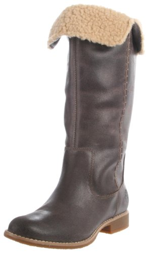 25668 Castanho Timberland F Alto Braun Camurça Shoreham Damen Stiefel Escuro D nnwIpxa