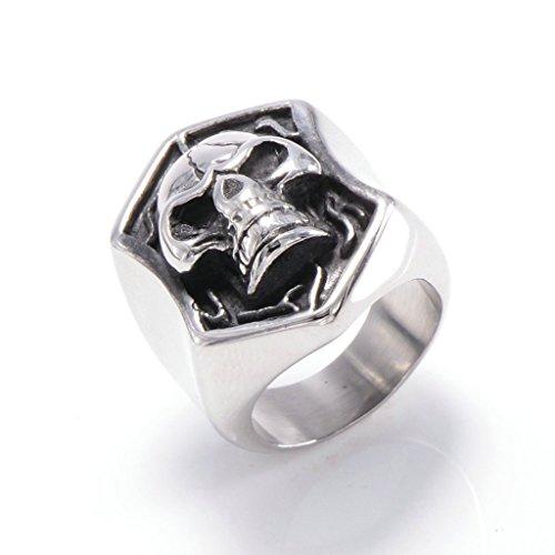 mens-316l-stainless-steel-punk-skull-ring-silver-gothic-vintage-biker-size-z-1-2