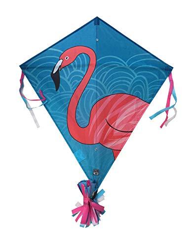 Wolkenstürmer Eddy Flamingo Kinderdrachen - 1-Leiner Flugdrachen mit Gestänge