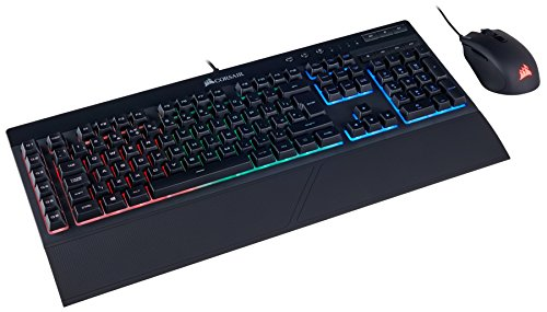 Corsair K55 + HARPOON RGB Wired Gaming Keyboard With Optical Mouse