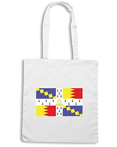 T-Shirtshock - Borsa Shopping TM0191 flag flag Bianco