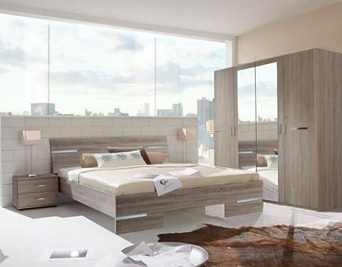 Germanica BAVARI Bedroom Furniture:Cabinets in Dark Oak Colour (6 Drawer Wide Chest)