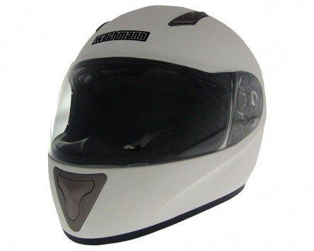 Casque intégral, Roller Casque, casque de moto WACHMANN Wa de 10ferreus Blanc mat