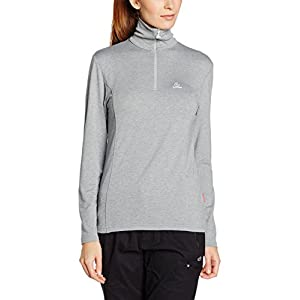 Löffler Damen Pulli DA Transtex Zip Rolli Basic