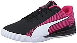 PUMA Mens Evospeed Star S Ignite Soccer Shoe, Puma Black/Puma White, 8.5 M US