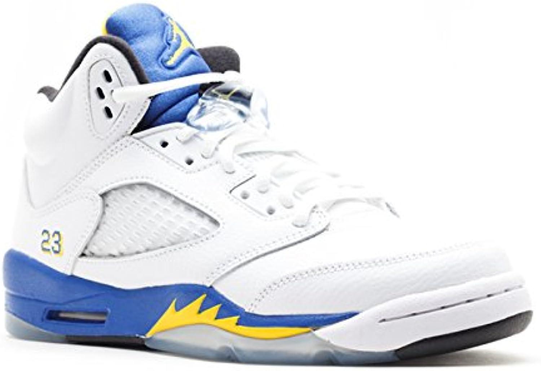 Nike Nike Nike - Air Jordan 5 Retro GS - Coleur: Azzuro-Bianco-Giallo - Taille: 35.5 feed17