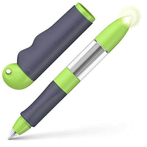 Schneider Base Senso Tintenroller (für Rechts- und Linkshänder, Schreibfarbe königsblau) grau / grün