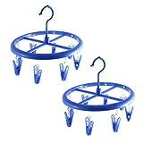 2 Stk 24cm Durchmesser Kunststoff Rund Wäscheklammer Hänger mit 8 Clips