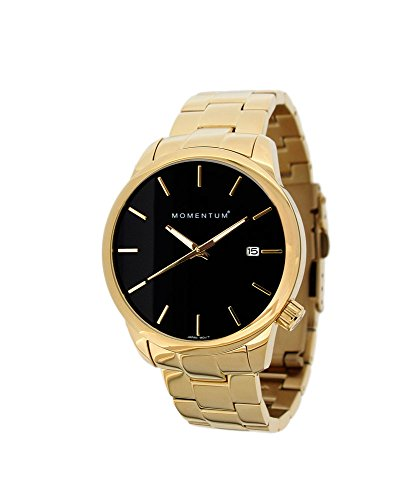 Momentum Women's Analog Quartz Watch with Gold-Plated-Stainless-Steel Strap 1M-SP13B0