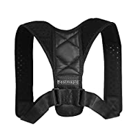 Bestmaple Posture Corrector for Men and Women - Upper Back Brace for Clavicle Support and Providing Pain Relief from Neck, Back & Shoulder
