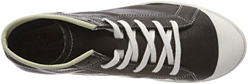 Softinos Kip448sof Smooth, Sneaker a Collo Alto Donna nero (nero)