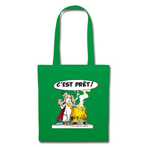 Spreadshirt Asterix & Obelix - Miraculix Stoffbeutel Kelly Green