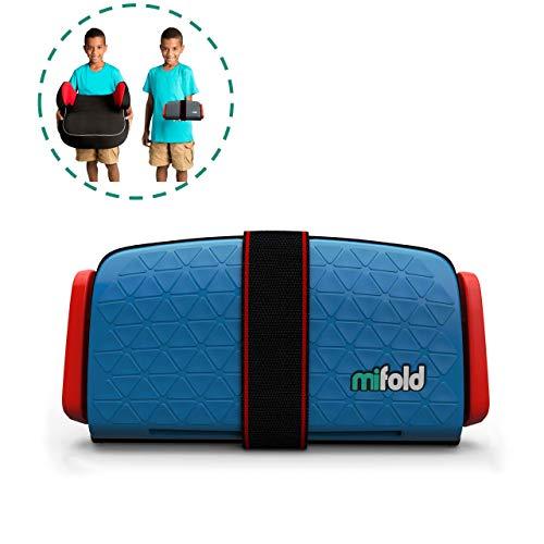 mifold Auto-Kindersitz Grab-and-Go-Booster, portabel, faltbare mobile und kleine Sitzerhöhung, Gruppe 2/3, blau