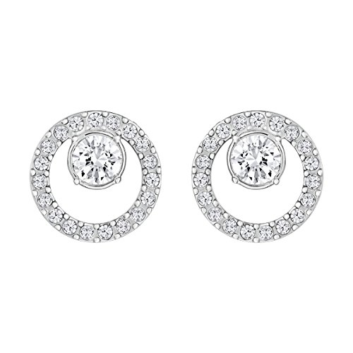Swarovski orecchini creativity circle, cristallo bianco, rodiati, da donna