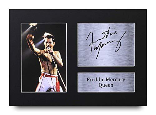 Hwc trading freddie mercury gifts, autografo stampato, formato a4, idea regalo (unframed) freddie mercury