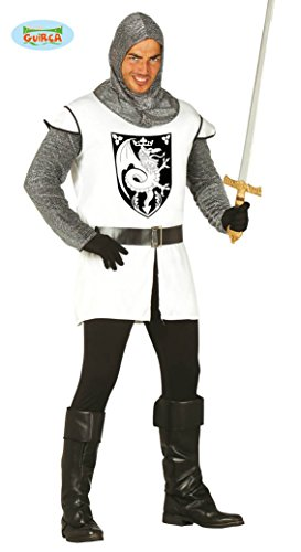 mittelalterlicher Ritter Karneval Motto Party Kostüm für Herren Rüstung Gr. M - L, Größe:L (Kettenhemd Kostüm Shirt)