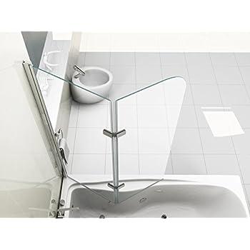 valve 130 x 140 cm 3tlg faltwand badewanne echt glas 6 mm duschabtrennung duschwand. Black Bedroom Furniture Sets. Home Design Ideas