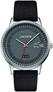 Lacoste Mens Quartz Watch, Analog Display and Leather Strap 2011032