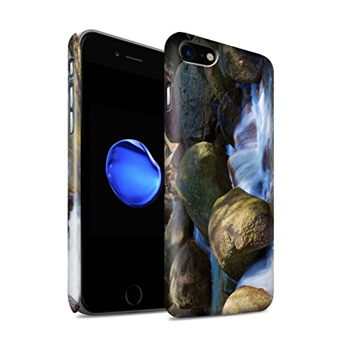 STUFF4 Matte Snap-On Hülle / Case für Apple iPhone 8 / Feuerwerk Muster / Thailand Landschaft Kollektion Felsigen Bach