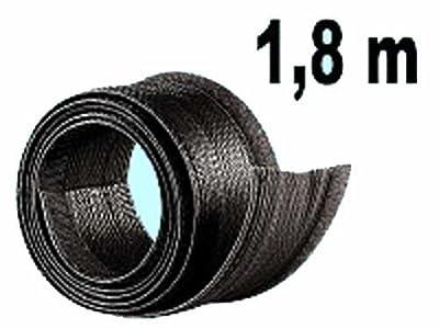 Flexibler schwarzer 1,8m Kabelschlauch mit praktischem Klettverschluss von dream audio - Lampenhans.de