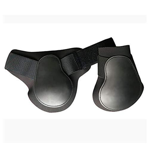 GCSEY Pferdegamaschen, Horse Leg Boot, 2 PCS Pferd Sehnenschoner Hinterbeinschutz Reitsport Schienbeinschutz Outdoor Sports Neopren Horse Hock Brace Protektoren,Schwarz