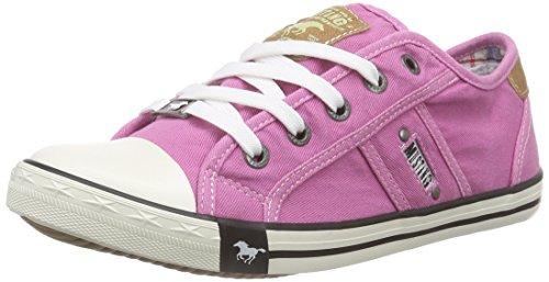 Mustang Schnürhalbschuh - Sneaker, Rot 5, taglia 34 Rosa (Pink (504 pink))