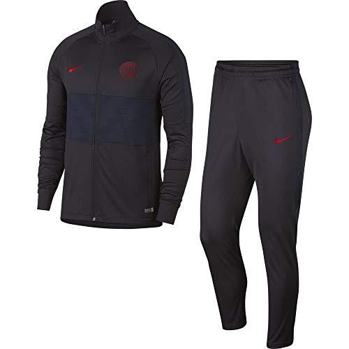 Nike Herren PSG M Nk Dry Strk TRK Suit K Trainingsanzug, Grau/Rot Oil Grey/University red, L
