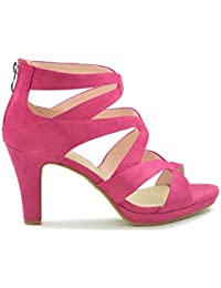 Fucsia Amazon Para Mujer Tacón Zapatos es De Y 55qw4Or